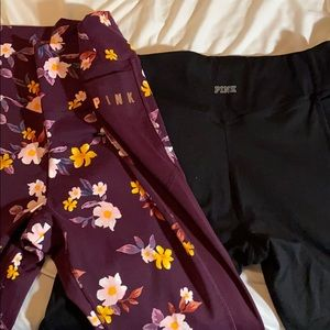 2 pairs of PINK yoga pants